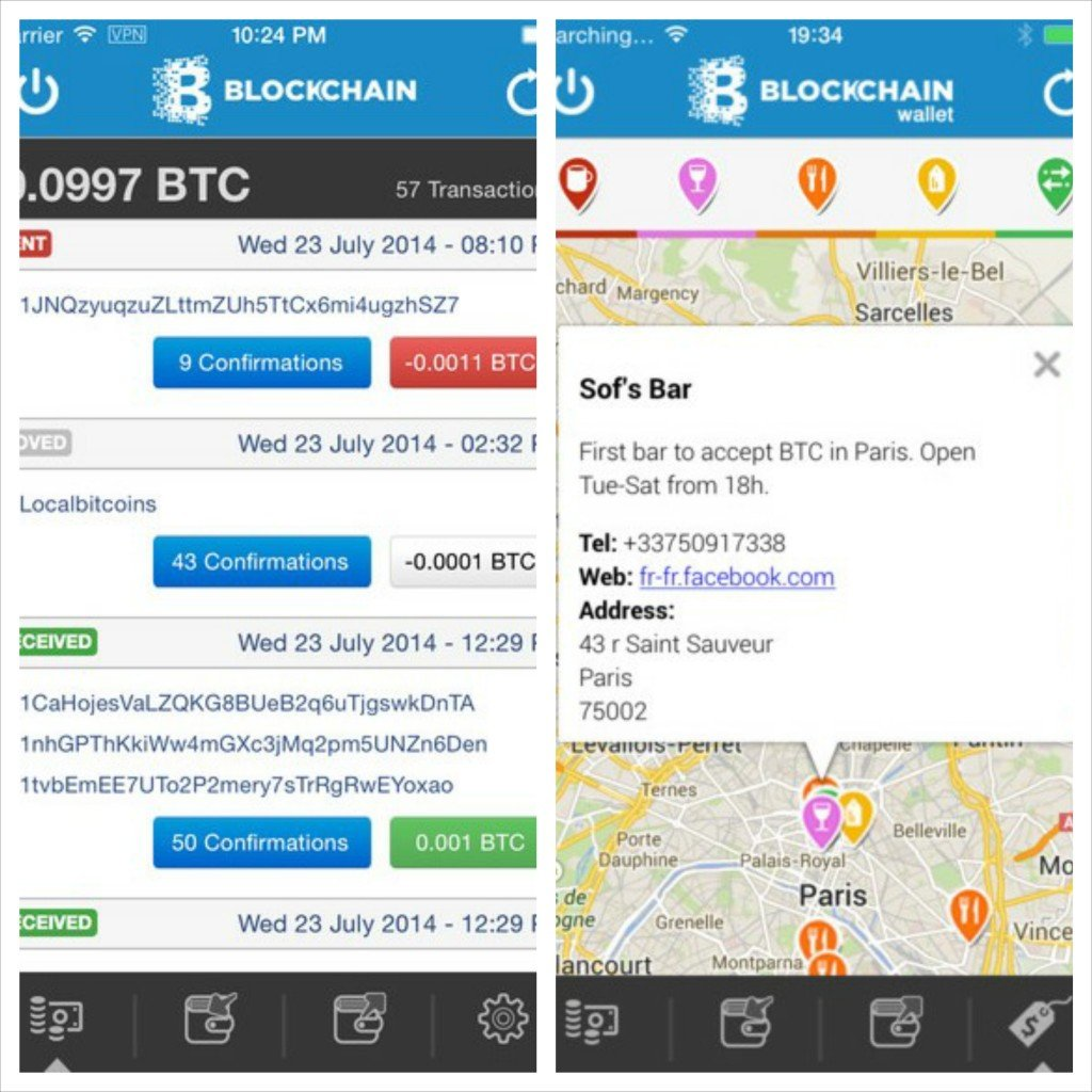 bitcoin blockchaine iphone