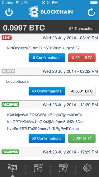 bitcoin peněženka iPhone