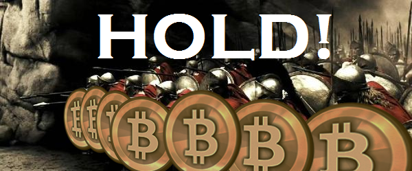 držte bitcoin