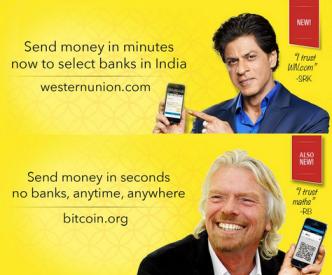 bitcoin parodie na Western union