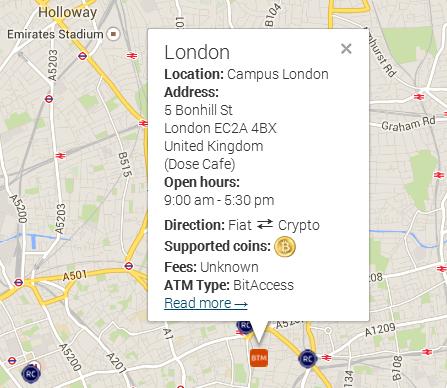 bitcoin bankomat londýn
