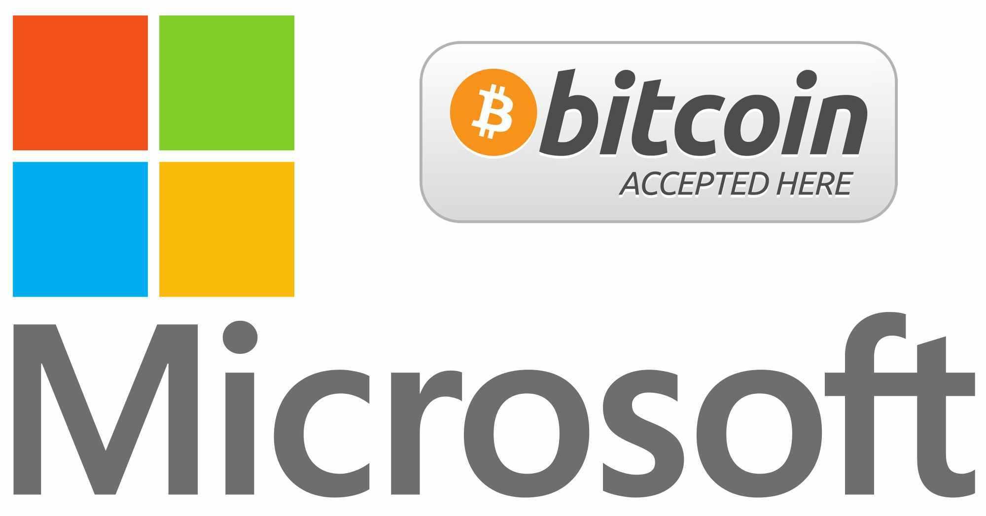 Microsoft přijímá bitcoin