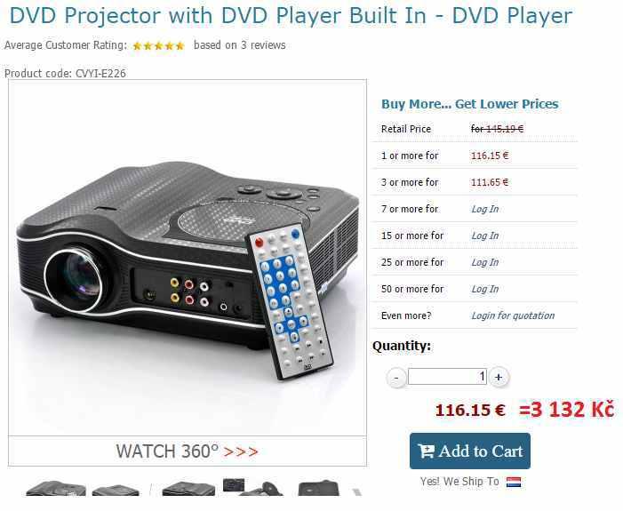 projektor za férovou cenu
