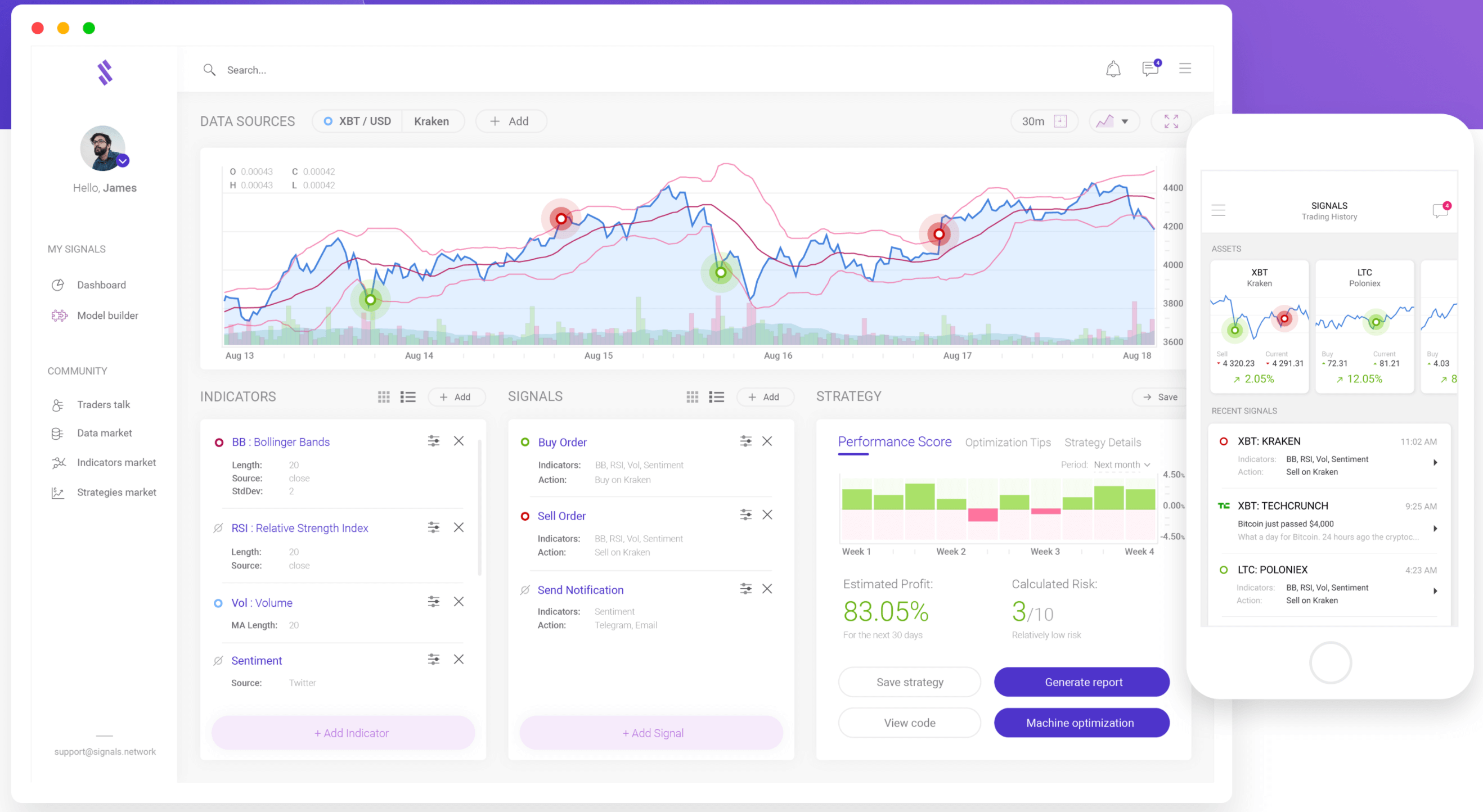 Obchodovací platforma Signals