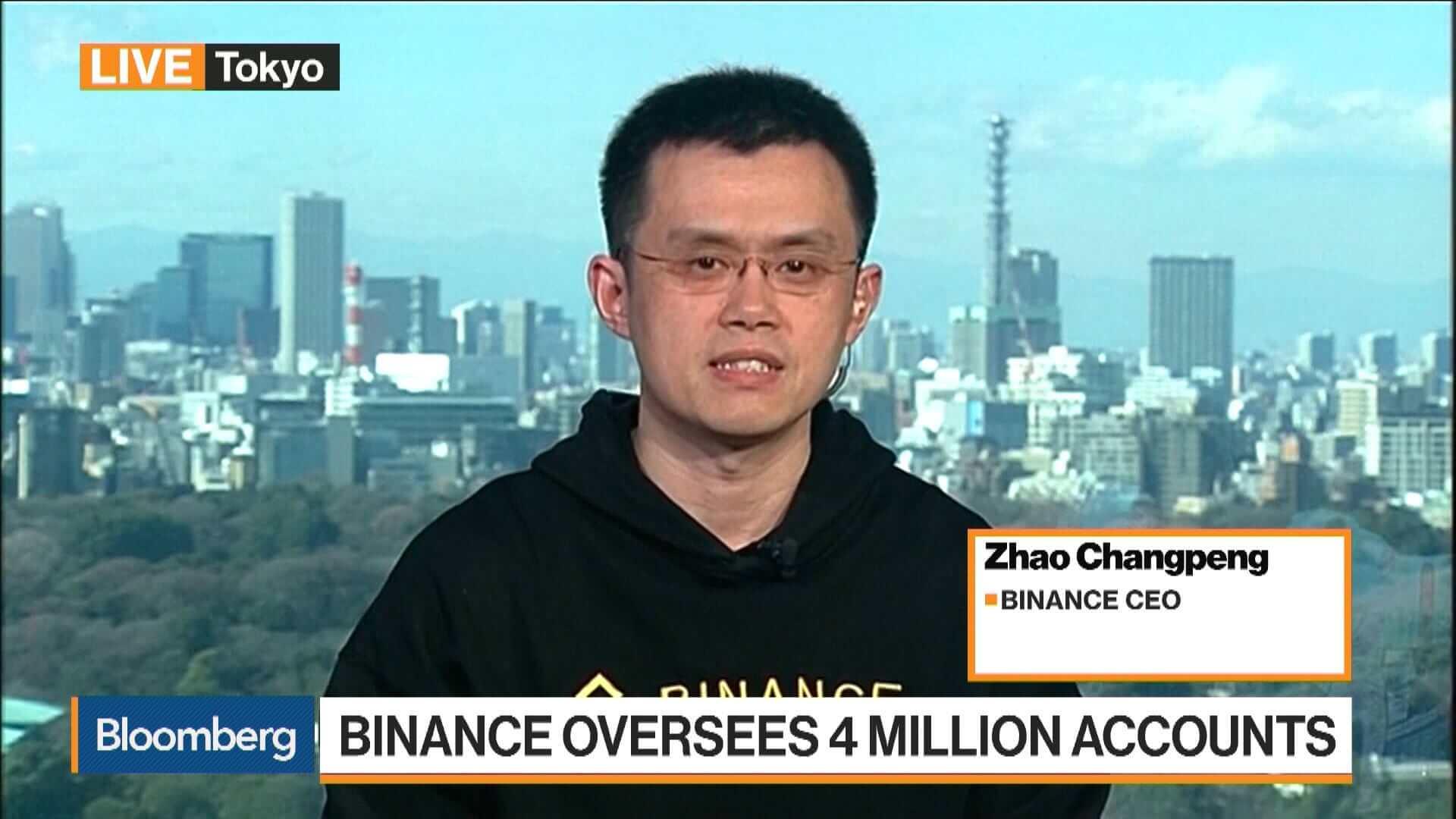 Changpeng Zhao ředitel burzy Binance